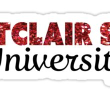 Montclair State University Glitter Sticker