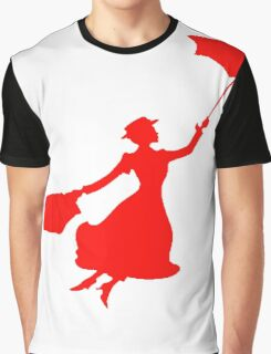 Red Miss Poppins  Graphic T-Shirt