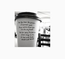 Writing on Coffee Poetry - Words that War Unisex T-Shirt