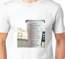 Writing on Coffee Poetry - Unpaved Roads Unisex T-Shirt