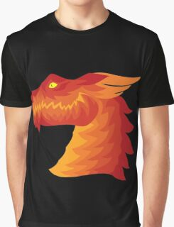 Friendly Dragon Head Graphic T-Shirt