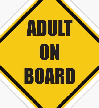 Adult On Board Sticker