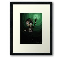 Doctor Who: Eleventh - Not Afraid of the Dark Framed Print