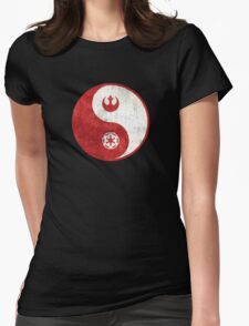 Star Wars Yin-Yang Womens Fitted T-Shirt