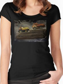 You Are Driving Me Over The Edge Women's Fitted Scoop T-Shirt