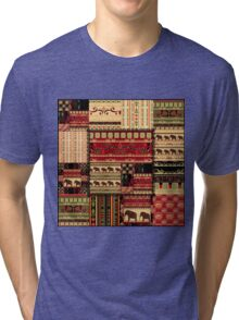 African print with elephants Tri-blend T-Shirt