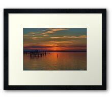 Sunset on the Bay 2 Framed Print