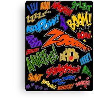 Onomatopoeia Collage #1 (1 of 2) Canvas Print