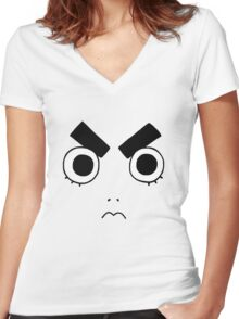 Rock Lee Face Women's Fitted V-Neck T-Shirt