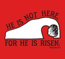 He Is Risen, Matthew 28:6 One Piece - Long Sleeve