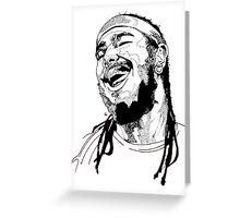 Post Malone Drawing Greeting Card