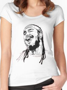 Post Malone Drawing Women's Fitted Scoop T-Shirt