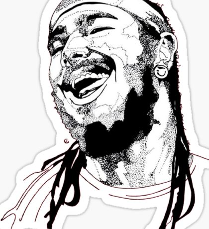 Post Malone Drawing Sticker