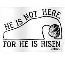 He Is Risen, Matthew 28:6 Poster
