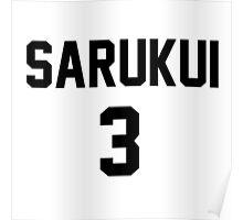 Haikyuu!! Jersey Sarukui Number 3 (Fukurodani) Poster