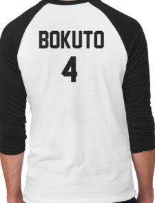 Haikyuu!! Jersey Bokuto Number 4 (Fukurodani) Men's Baseball ¾ T-Shirt