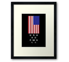 Foreign and Domestic Framed Print