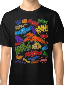 Onomatopoeia Collage #1 (1 of 2) Classic T-Shirt