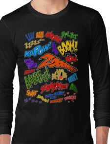 Onomatopoeia Collage #1 (1 of 2) Long Sleeve T-Shirt