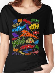 Onomatopoeia Collage #1 (1 of 2) Women's Relaxed Fit T-Shirt