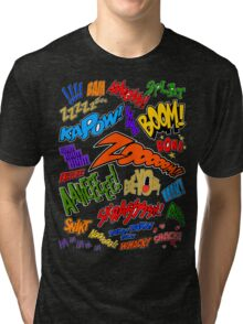 Onomatopoeia Collage #1 (1 of 2) Tri-blend T-Shirt