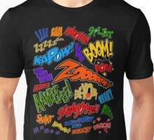 Onomatopoeia Collage #1 (1 of 2) Unisex T-Shirt