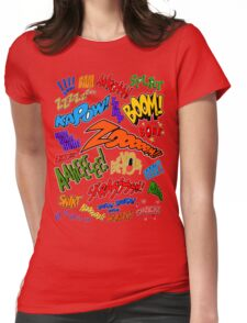 Onomatopoeia Collage #1 (1 of 2) Womens Fitted T-Shirt