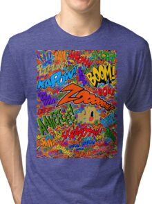Onomatopoeia Collage #2 (2 of 2) Tri-blend T-Shirt