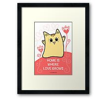 Cute Kawaii Cat Neko Yoko - Home of Love Framed Print