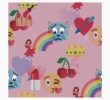 girly pink emoji One Piece - Short Sleeve