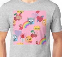 girly pink emoji Unisex T-Shirt