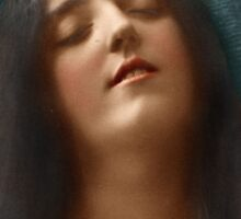 Colorized Vintage Portrait of a Woman in Ecstasy circa 1910 Sticker