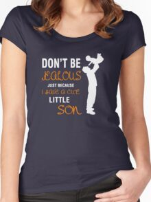 cute son Women's Fitted Scoop T-Shirt