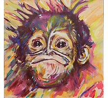 Cheeky Lil' Monkey Photographic Print