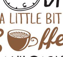 Coffee Jesus Graphic Baseball Sticker