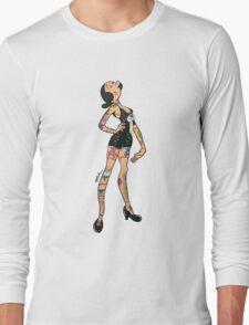 Pinup girl Olive Oil Original Artwork by WRTISTIK Long Sleeve T-Shirt