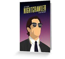 Nightcrawler film poster Greeting Card