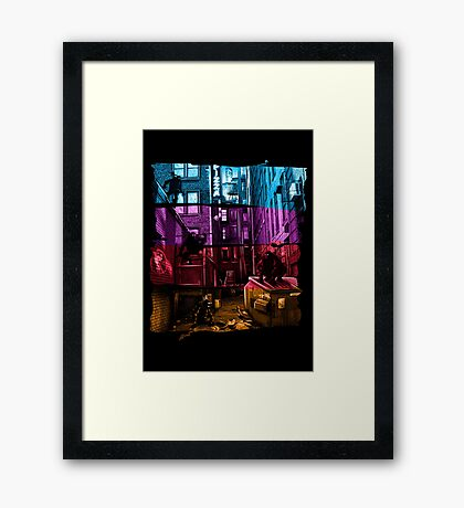 Anchovy Alley Framed Print
