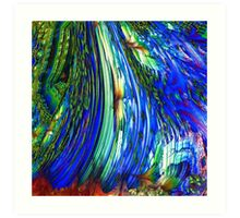 ABSTRACT OVERFLOW GLEAM  Art Print