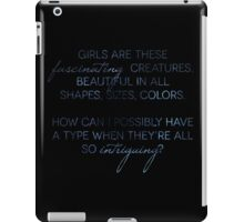Girls are Fascinating (Modern Monsters) iPad Case/Skin