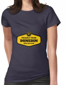 Proudly From Dunedin New Zealand Womens Fitted T-Shirt