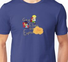 Gay Elves and Explosions Unisex T-Shirt