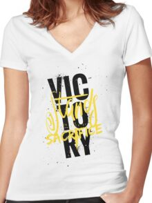 The 100: Victory Women's Fitted V-Neck T-Shirt