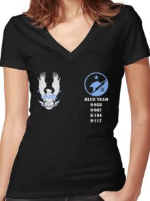 UNSC Spartan Blue Team Women's Fitted V-Neck T-Shirt