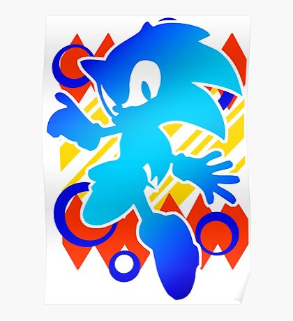 Abstract 90's Sonic Poster