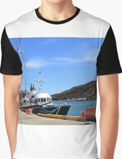 Victoria Day Weekend moored tourist boats waiting for tourists Graphic T-Shirt