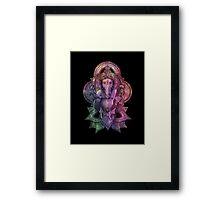 Ganesha Color - black Framed Print