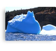Remaining of big Icebergs reached the shore of Newfoundland Canvas Print