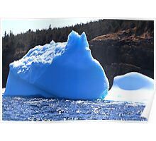 Remaining of big Icebergs reached the shore of Newfoundland Poster