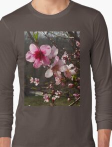 Peach Blossoms Long Sleeve T-Shirt